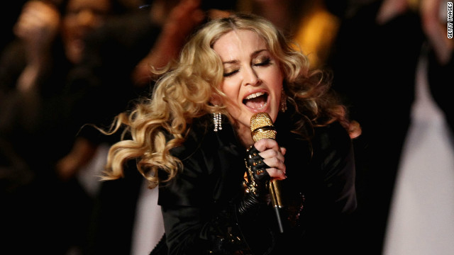 Madonna provided the halftime entertainment during Sunday's Super Bowl -- and on Twitter, where the jokes were flying.