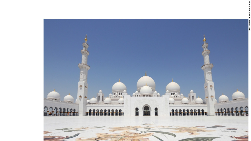 The Sheikh Zayed Grand Mosque can hold almost 41,000 worshipers.