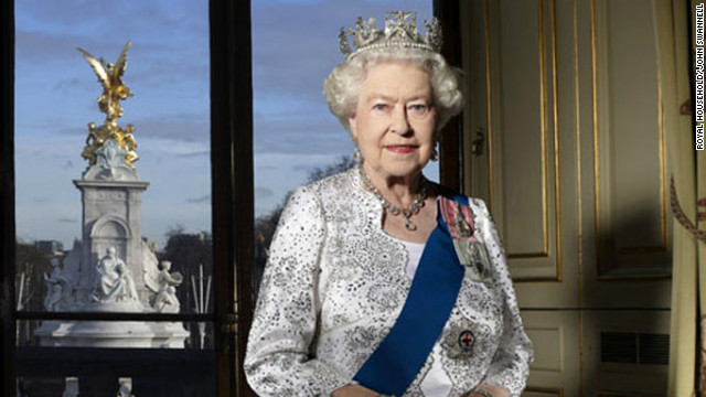 This specially commissioned Diamond Jubilee photograph of the queen was released on Monday.