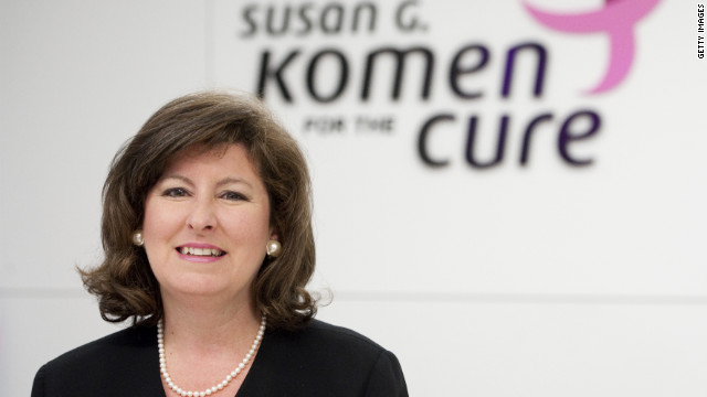 Karen Handel had served in her position at Komen since April.
