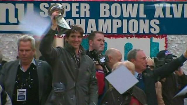 New York Giants celebrate Super Bowl win