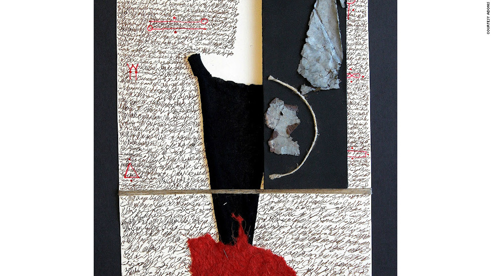 This is one of the oldest collages in Adonis's exhibition, dating from 1993.