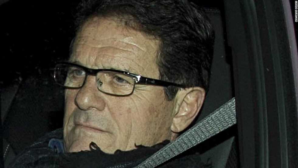 Fabio Capello leaves Wembley Stadium after his hour-long meeting with Football Association chairman David Bernstein, where he tendered his resignation with immediate effect.