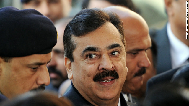 File photo of Pakistani Prime Minister Yusuf Raza Gilani, who expressed deep sorrow at the loss of lives.