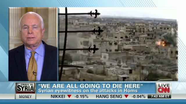 Sen. McCain weighs in on Syrian massacre