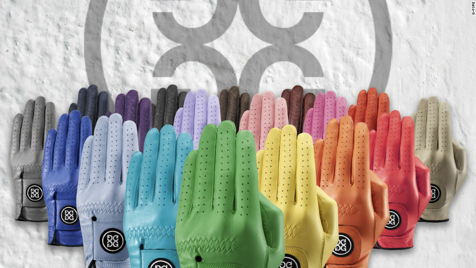 A colored glove for every occasion from G/FORE. These eye-catching designs, which come in 18 colors, were created by avid golfer Mossimo Giannulli.