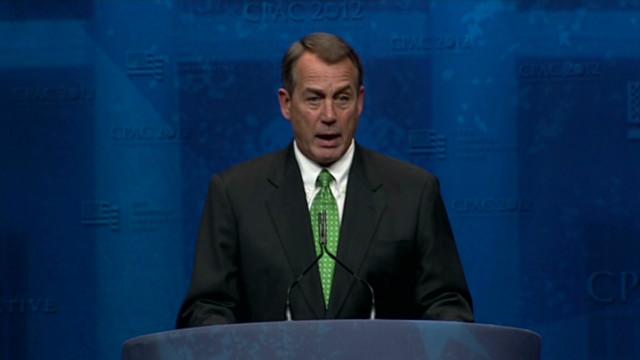Boehner touts conservative utopia