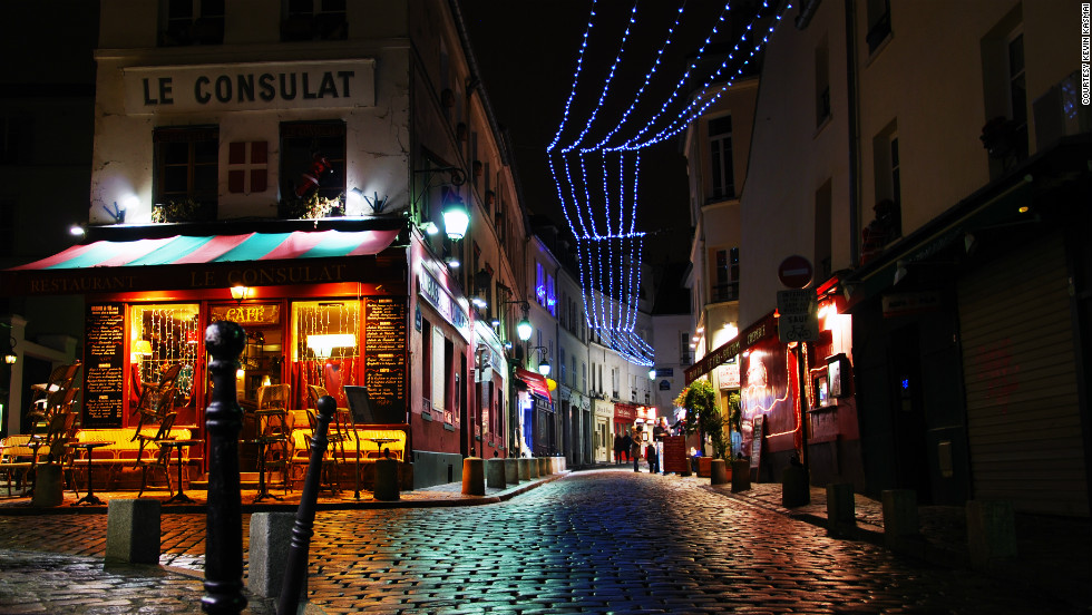 """The Montmartre neighborhood has nurtured many French artists over the past century and is now a big tourist destination with many night clubs, stores and restaurants,"" Kevin Kasmai said of his photo. ""In this photo, it is lit up for Christmas."""