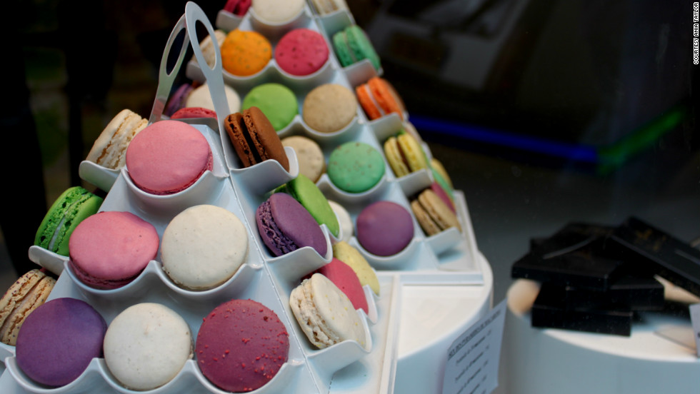 Ania Taylor snapped this shot of the colorful Parisian delicacy, macarons.