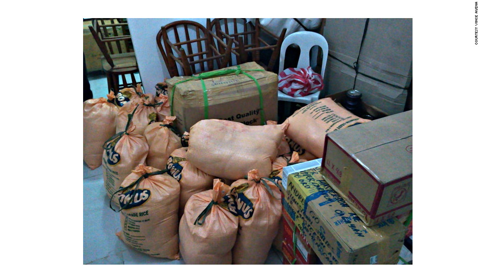 "Operation VALENTINES also arrived with a half-ton of rice. ""When support has slowed down and the attention of the people is elsewhere, here we are going to areas where the people still live in hunger, despair and loss,"" Avena said."