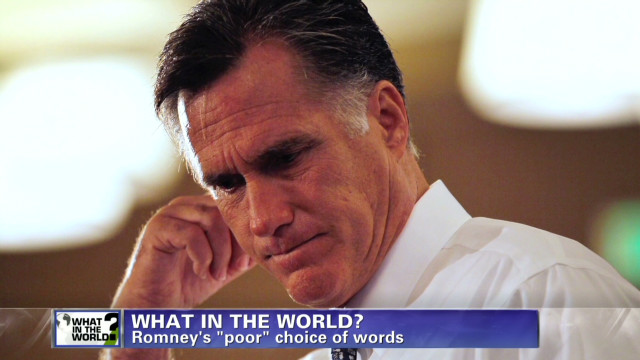 What in the world: Mitt Romney