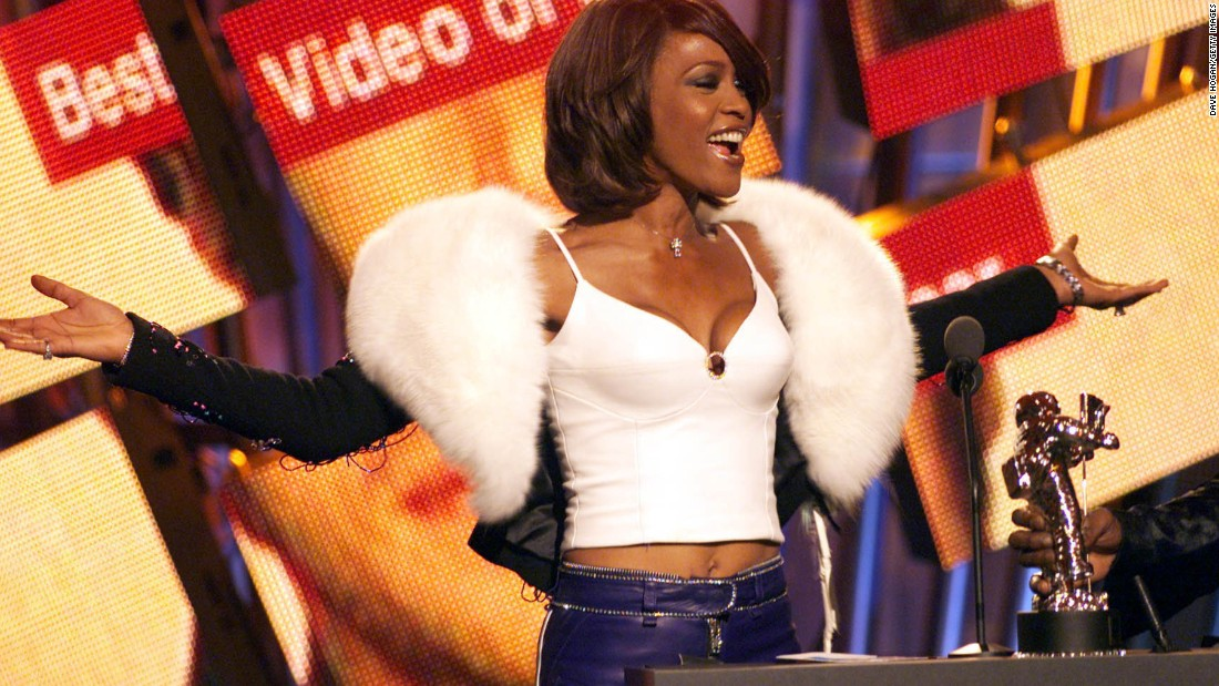 Houston performs at the MTV Music Video Awards in 2000.