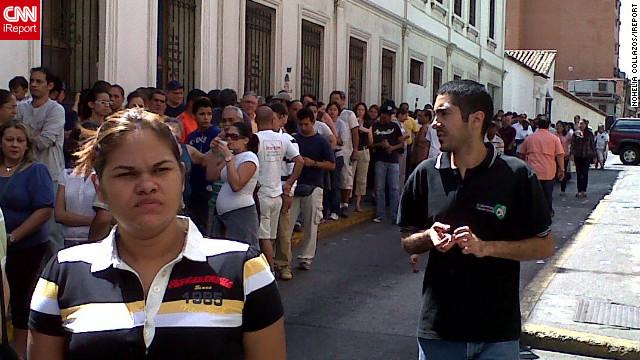 Foto de votantes en el Sector Quinta Crespo de Caracas.