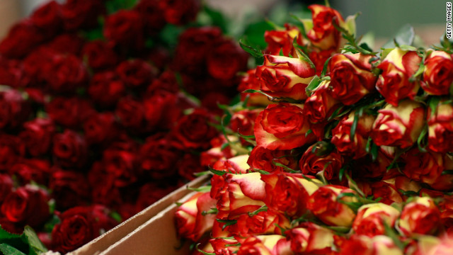 Flowers prepared for dispatch are pictured at wholesaler Bloomways warehouse five days before Valentines Day on February 9, 2012 in Straelen, Germany.