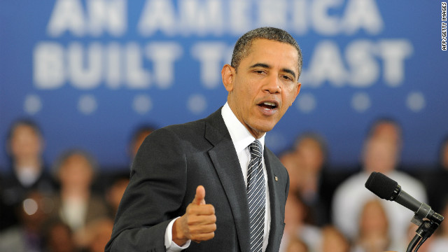 President Obama talks about his 2013 budget at Northern Virginia Community College in Annandale, Virginia, on Monday.