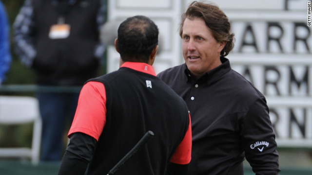 American duo Phil Mickelson and Tiger Woods have won a total of 18 majors between them.