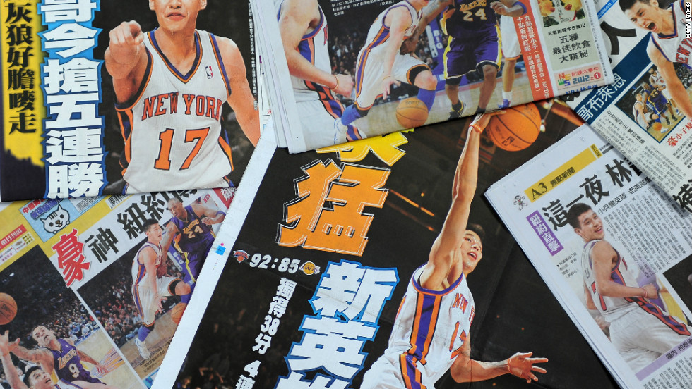 Jeremy Lin was the first U.S.-born NBA player of Chinese or Taiwanese descent, and his rise to stardom received international media coverage.