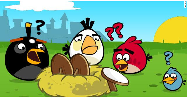 """Angry Birds,"" the massively popular mobile game, made its debut on Facebook on Valentine's Day."