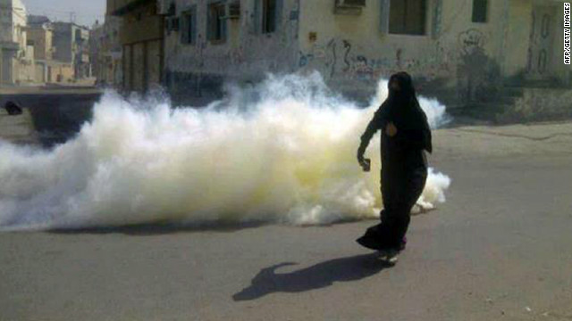 Protests in Bahrain on revolt anniversary