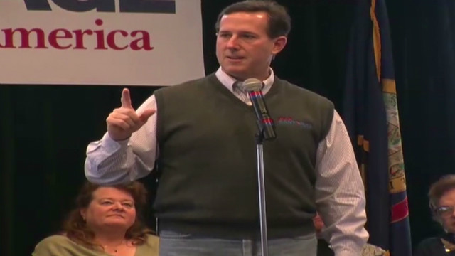 Santorum calls out Romney on health care