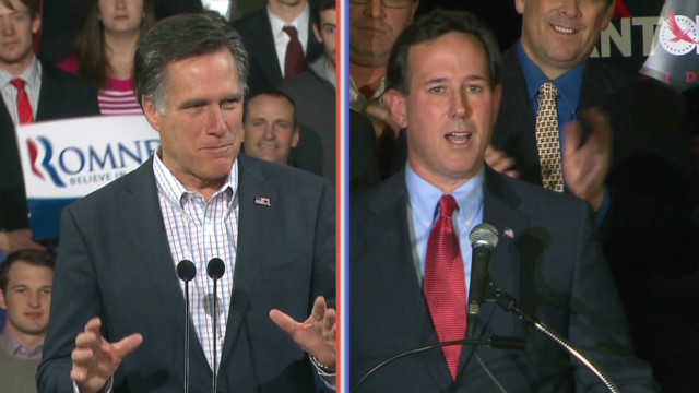 Romney, Santorum set sights on Michigan