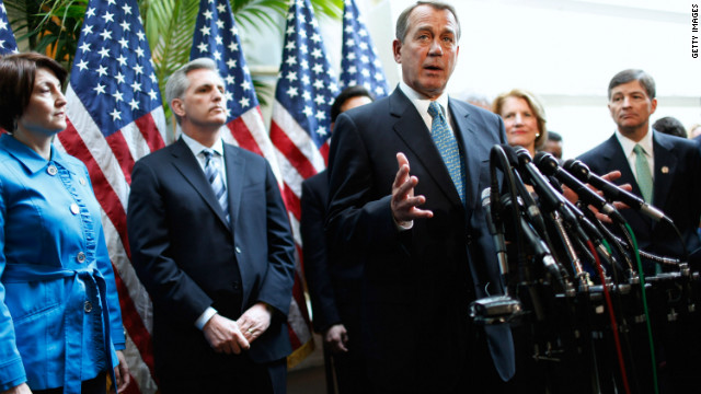 "House Speaker Joehn Boehner says the president is""trying to invent a fight where there is none and never has been."""