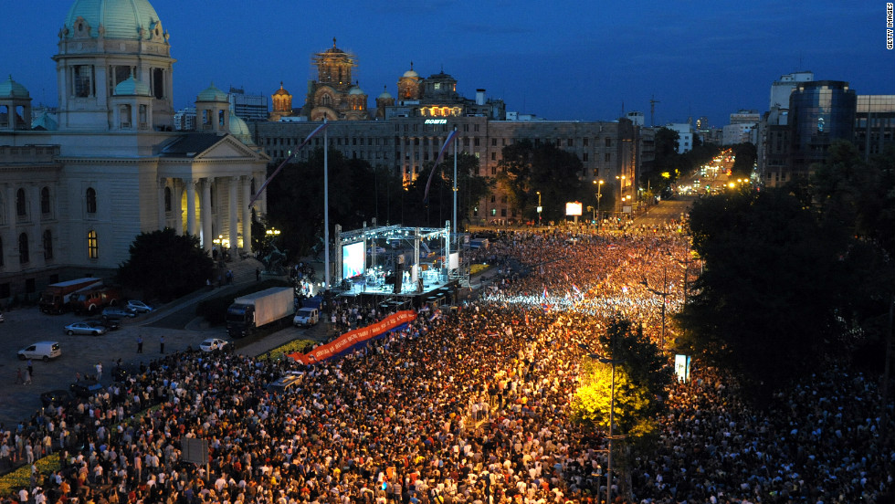 After Djokovic won Wimbledon, tens of thousands of people lined the streets of the Serbian capital Belgrade to welcome their hero home.