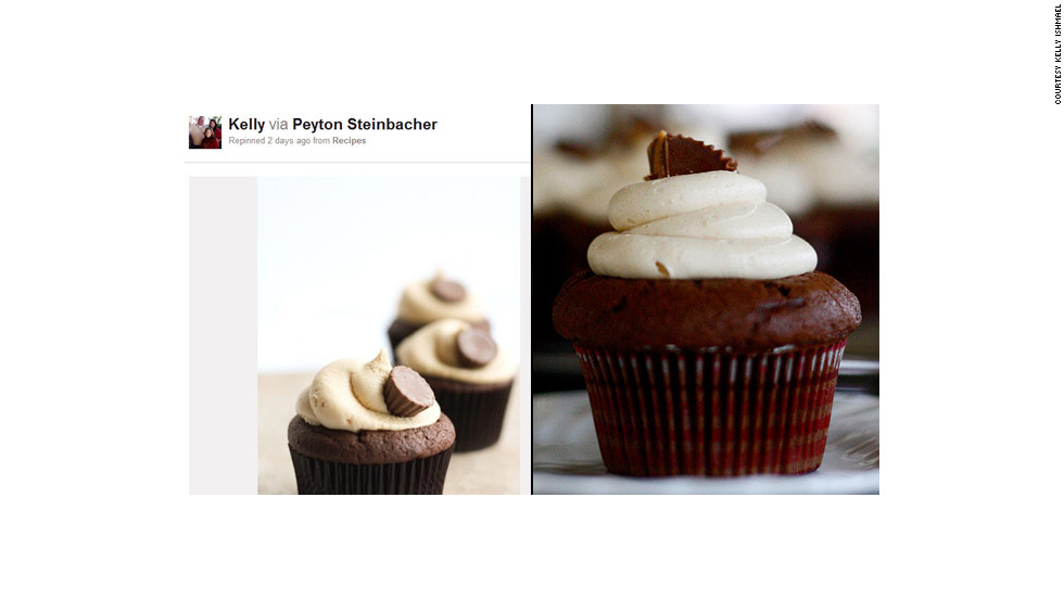 "Kelly Ishmael is working on a project she calls ""52 weeks of Pinspiration,"" during which she'll create a different Pinterest-inspired project each week and blog about it. Week five, it was these delicious <a href=""http://ireport.cnn.com/docs/DOC-743712"">peanut butter cupcakes</a>."