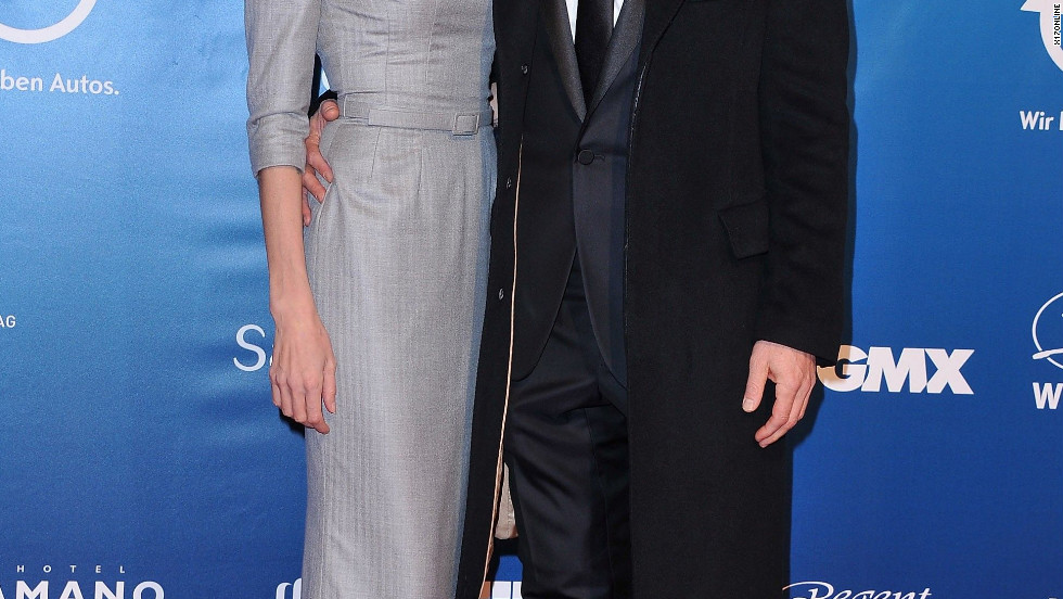 Angelina Jolie and Brad Outt attend a gala in Berlin.