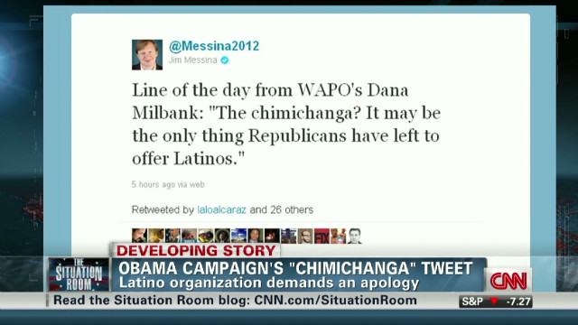 Obama campaign's 'chimichanga' tweet