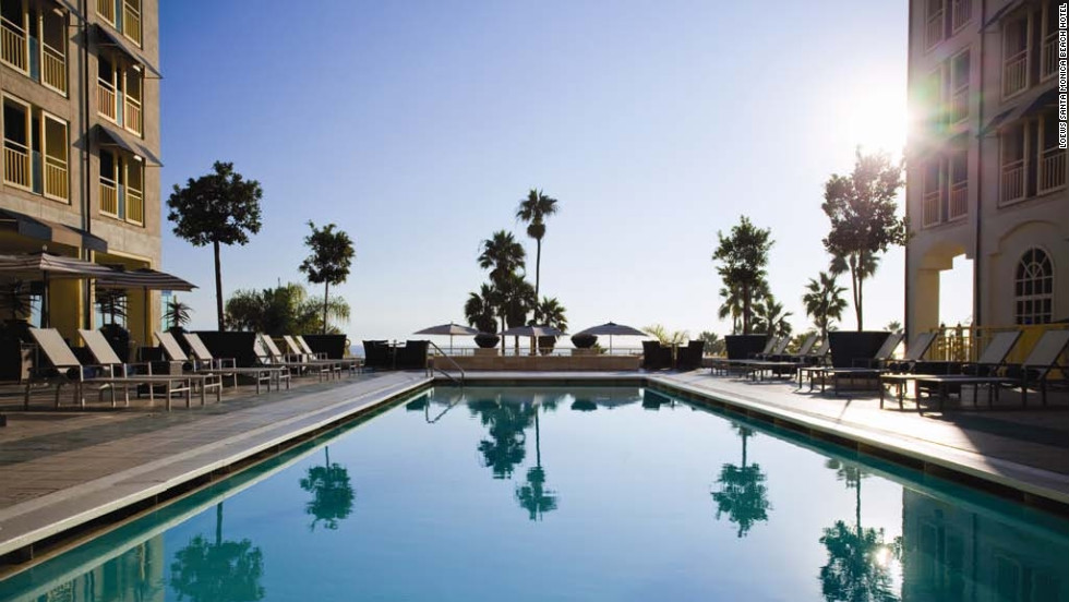 Restore your tranquility by the oceanfront pool at Loews Santa Monica Beach Hotel.
