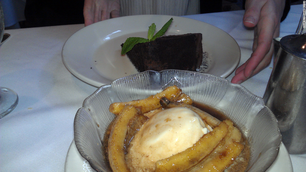 "Former New Orleans resident Diane Boyea misses the food, especially bananas Foster from Brennan's. ""The bright yellow, sweet bananas are sautéed in butter and brown sugar then flambéed with rum."""