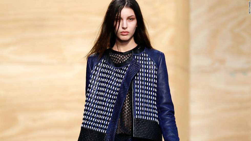 Proenza Schouler's collection showcased textured fabrics in dark hues with a rocker chic element, which are all expected trends for fall 2012.
