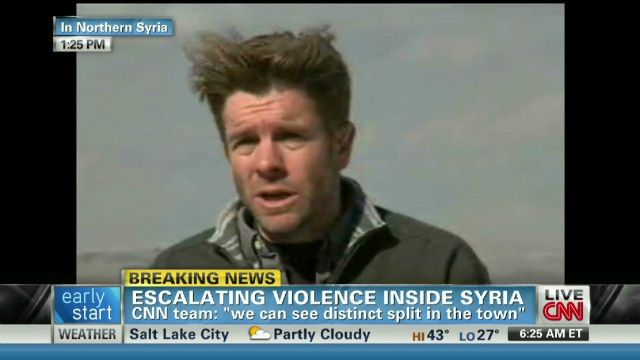 Violence intensifies inside Syria
