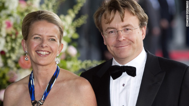 Prince Friso and Princess Mabel, photographed in May 2011 at Princess Maxima's birthday celebration.