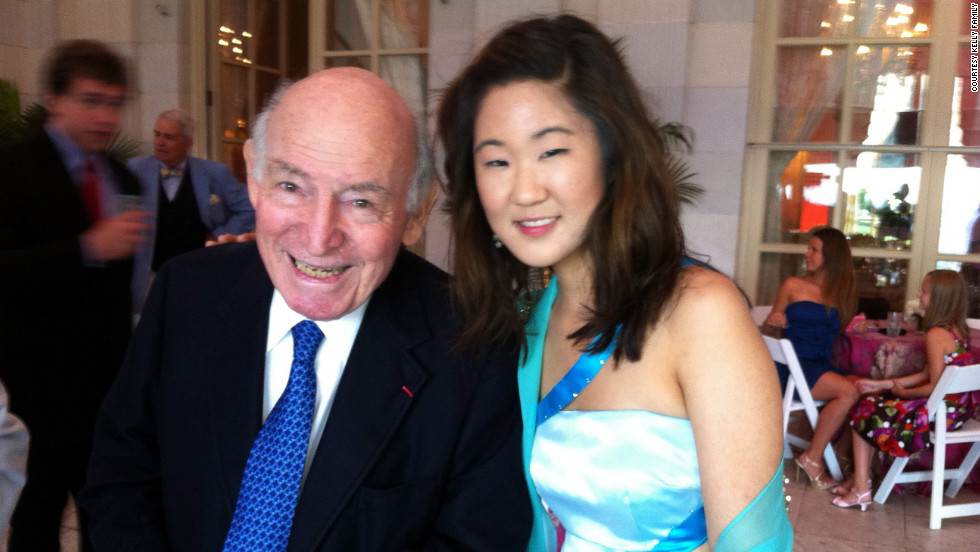 She's played one of jazz's biggest events, the Newport Jazz Festival, more than once. She poses here with festival founder George Wein.