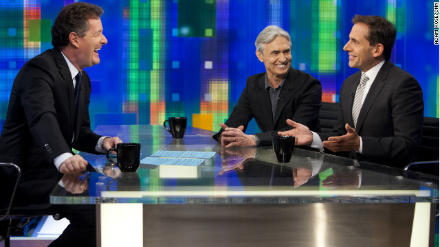 "Steve Carell and David Steinberg are guests on Monday's ""Piers Morgan Tonight"""