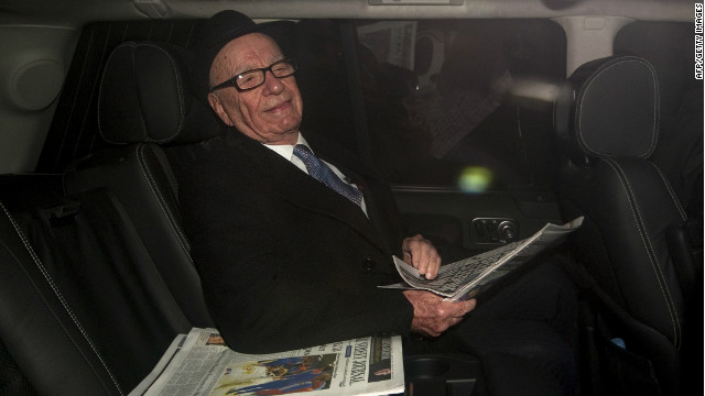 News Corp chairman and CEO Rupert Murdoch leaves his London home to visit the offices of The Sun on February 17.