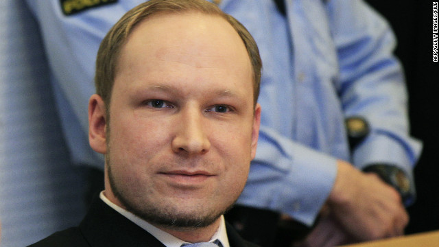 Anders Breivik who went on a bombing and shooting rampage in July in Norway, killing 77 people.