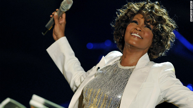 "US singer Whitney Houston performs on stage during the 183rd edition of the TV show presented by  ""Wetten, dass..?"" (Let's Make a Bet) on October 3, 2009 in Freiburg, southern Germany.          AFP PHOTO   DDP/ JOERG KOCH          GERMANY OUT (Photo credit should read JOERG KOCH/AFP/Getty Images)"