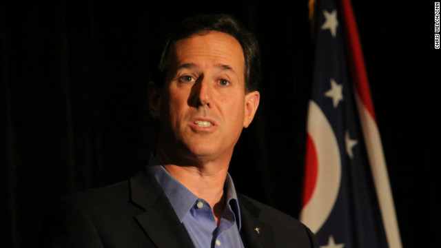 GOP presidential candidate Rick Santorum challenged policy on prenatal testing at an appearance in Ohio Saturday.