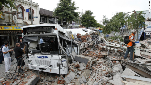 Woman trapped in rubble of NZ earthquake
