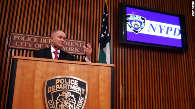 NYPD Commissioner Raymond Kelly speaks at police headquarters on January 27.