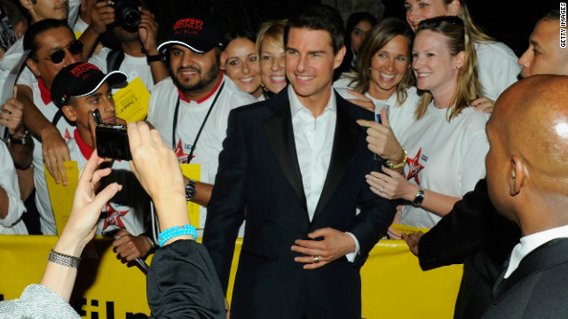 Tom Cruise attends the 'Mission: Impossible - Ghost Protocol' premiere on December 7, 2011 in Dubai.