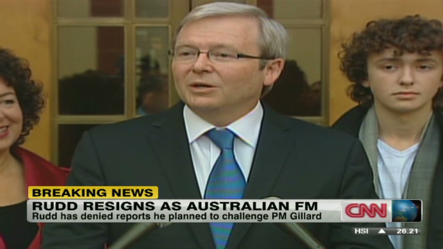 Kevin Rudd resigns as Australian FM
