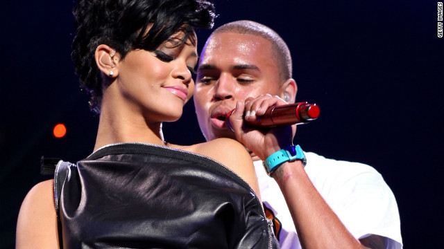 Rihanna and Chris Brown performed together in December 2008 when they were a couple.