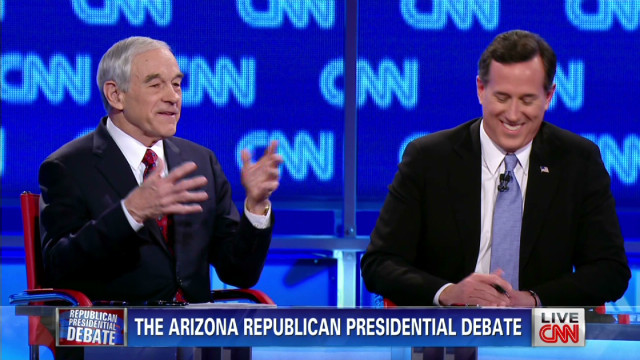 Paul calls Santorum 'fake' during debate