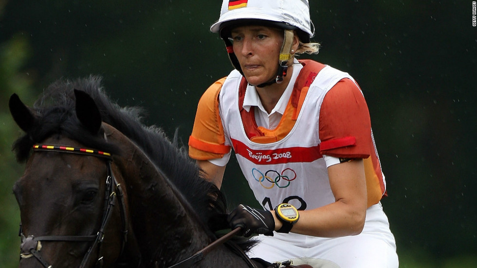 Equestrian rider Ingrid Klimke won the gold medal at the 2008 Beijing Olympics as part of the German three-day eventing team.