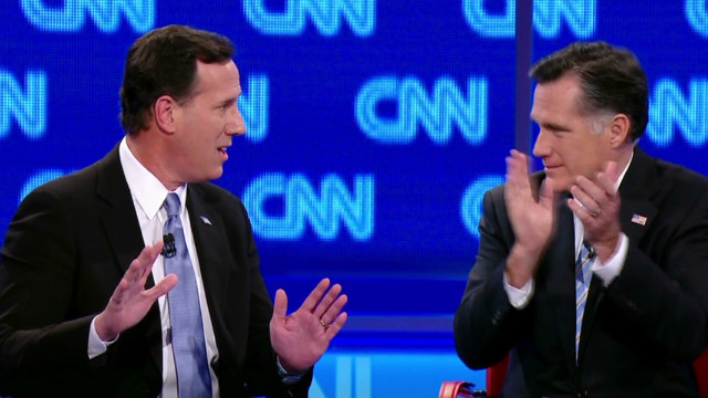 Romney to Santorum: 'Look in the mirror'