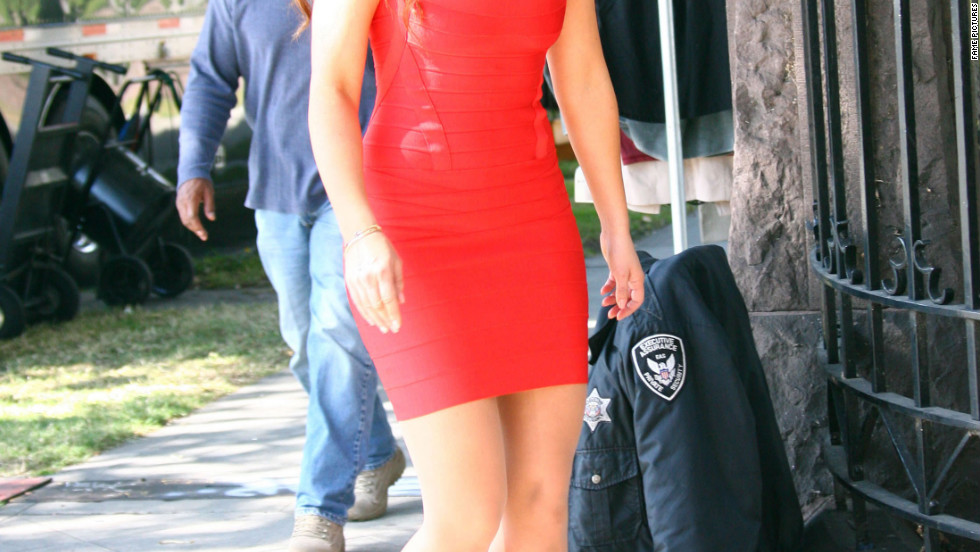 "Jennifer Love Hewitt films a scene for ""The Client List"" in West Hollywood."